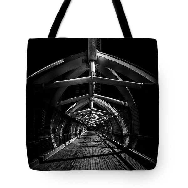 Tote Bag featuring the photograph Puente De Luz Pedestrian Bridge Toronto Canada No 1 by Brian Carson