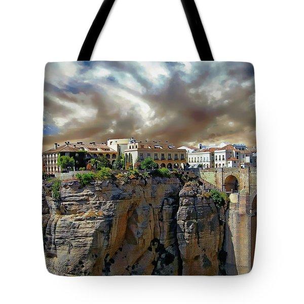 Tote Bag featuring the photograph Puente Nuevo Bridge by Anthony Dezenzio