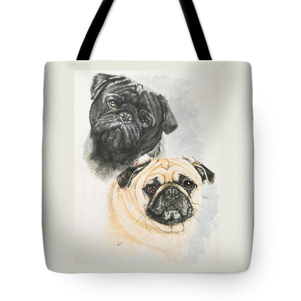 Pug Brothers In Watercolor Tote Bag