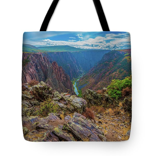 Pulpit Rock Overlook Tote Bag