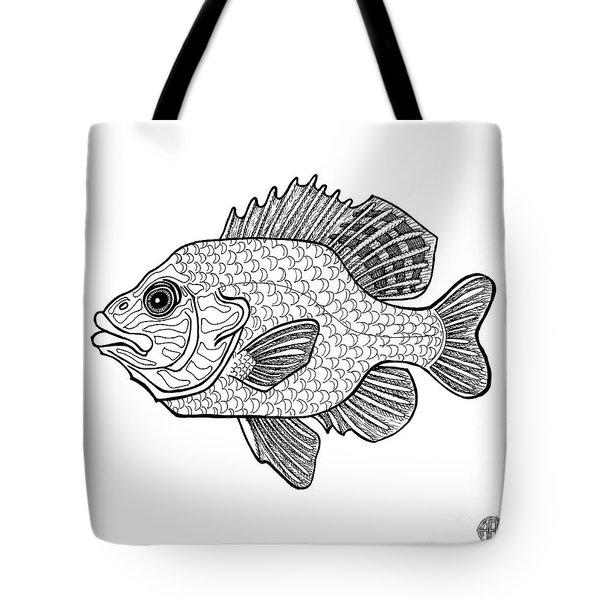 Pumpkinseed Fish Tote Bag