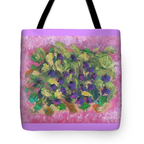Tote Bag featuring the painting Purple And Gold by Corinne Carroll