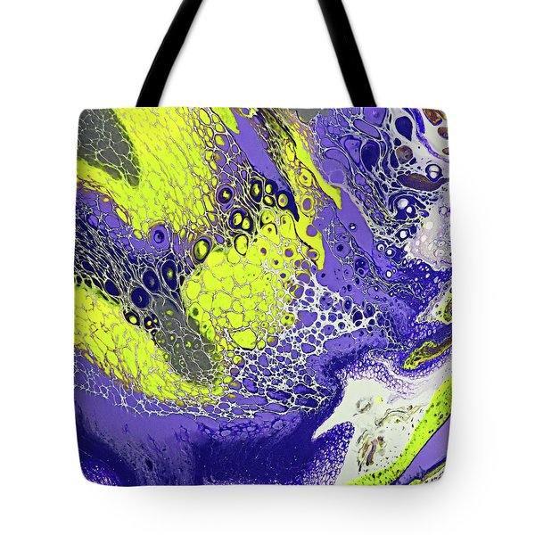 Purple And Yellow Tote Bag