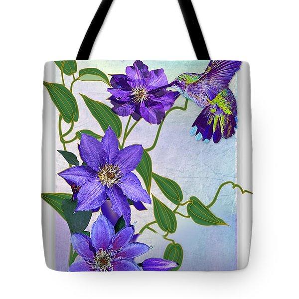 Purple Attraction Tote Bag