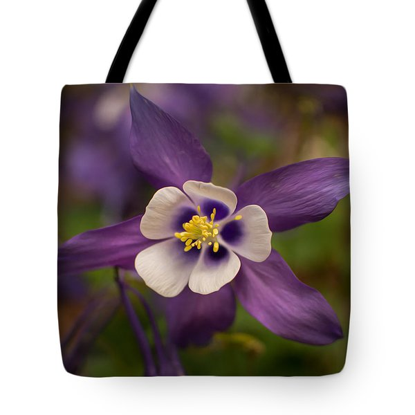 Tote Bag featuring the photograph Purple Columbine by Keith Smith