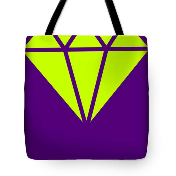 Purple Diamond Yellow Tote Bag