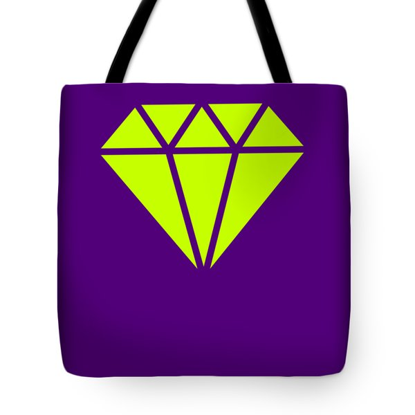 Purple Diamond Yellow Tote Bag