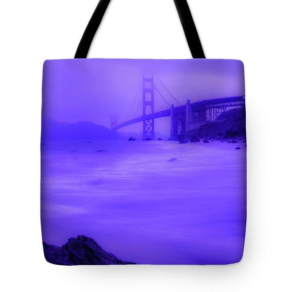 Purple Golden Gate Fog Tote Bag