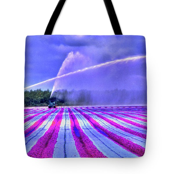 Tote Bag featuring the photograph Purple Grain by Wayne King