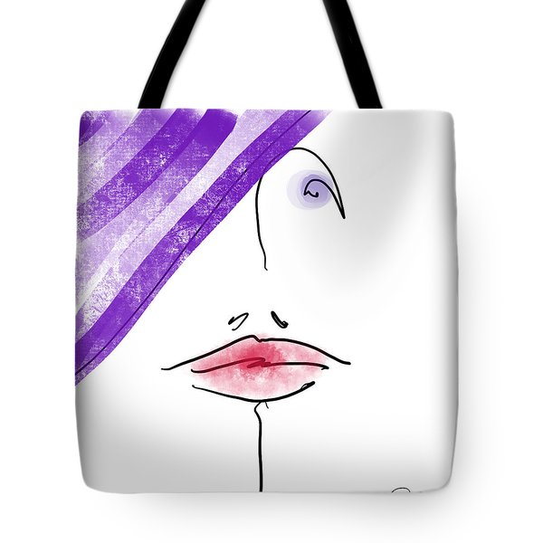 Purple Hat Tote Bag