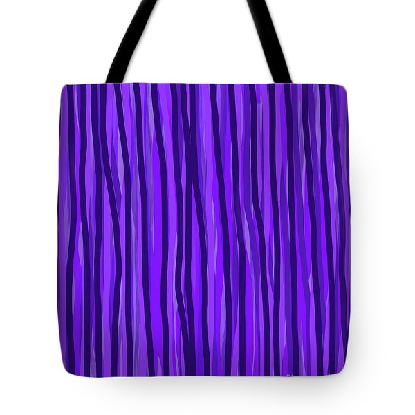 Purple Lines Tote Bag