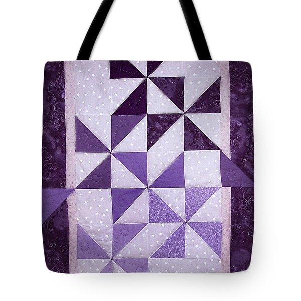 Purple Pinwheels Pirouetting Tote Bag