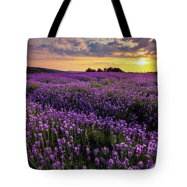Purple Sea Tote Bag