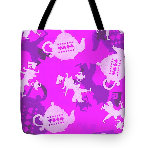 Purple Tea Party Tote Bag