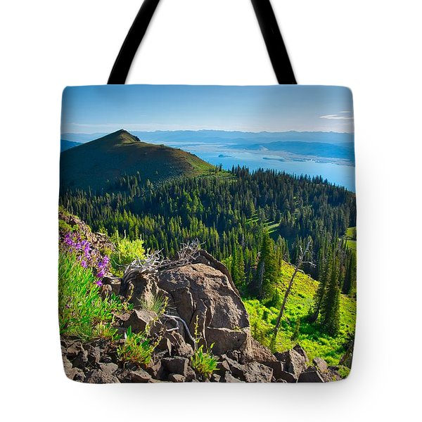 Purple Vista Tote Bag