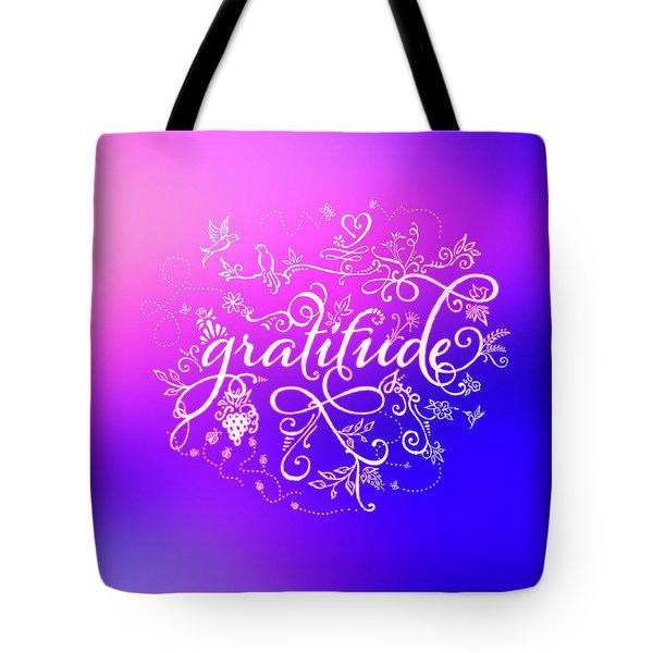 Purply Pink Gratitude Tote Bag