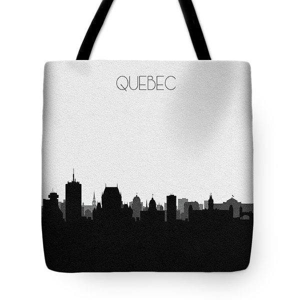 Quebec City Cityscape Art Tote Bag