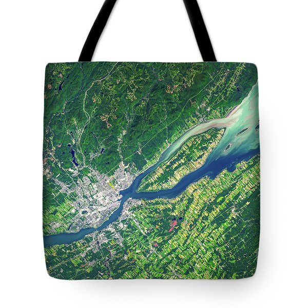 Quebec City From Space Tote Bag