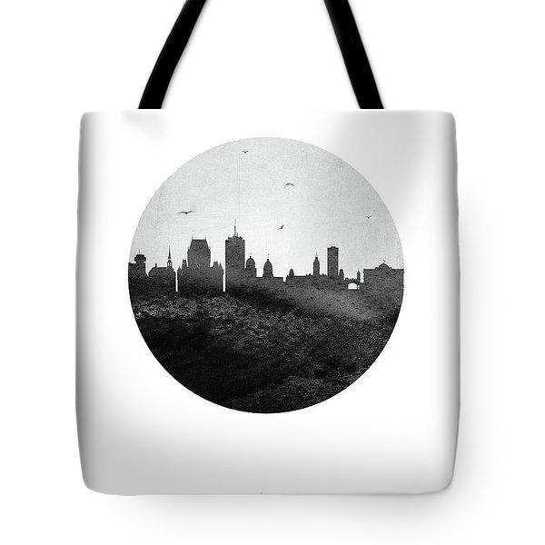Quebec Skyline Caqcqc04 Tote Bag