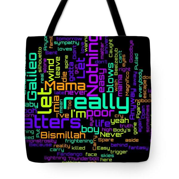 Queen - Bohemian Rhapsody Lyrical Cloud Tote Bag