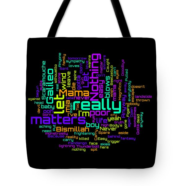 Queen - Bohemian Rhapsody Lyrical Cloud Tote Bag