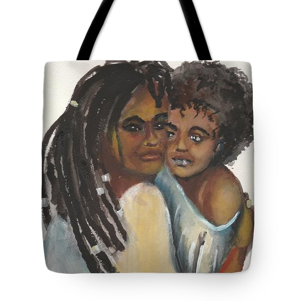Tote Bag featuring the painting Queen Love by Saundra Johnson