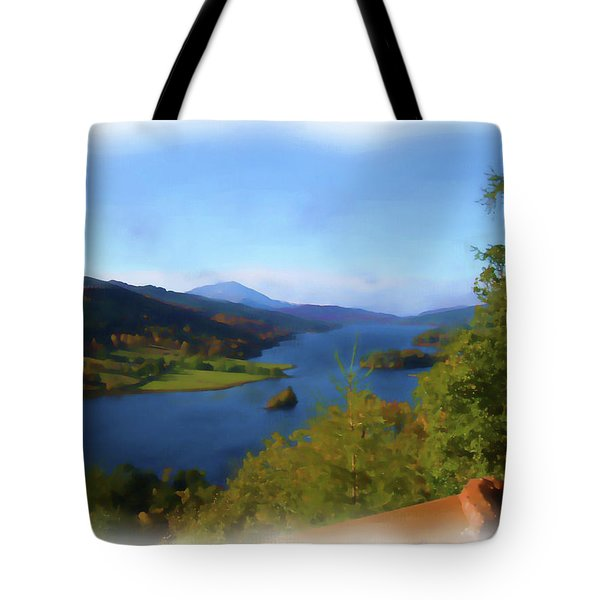 Queens View Painting Tote Bag