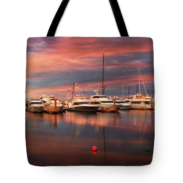 Quiet Evening On The Marina Tote Bag