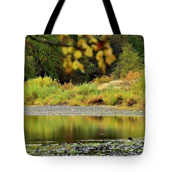 Tote Bag featuring the photograph Quiet Illinois River Autumn by Jerry Sodorff