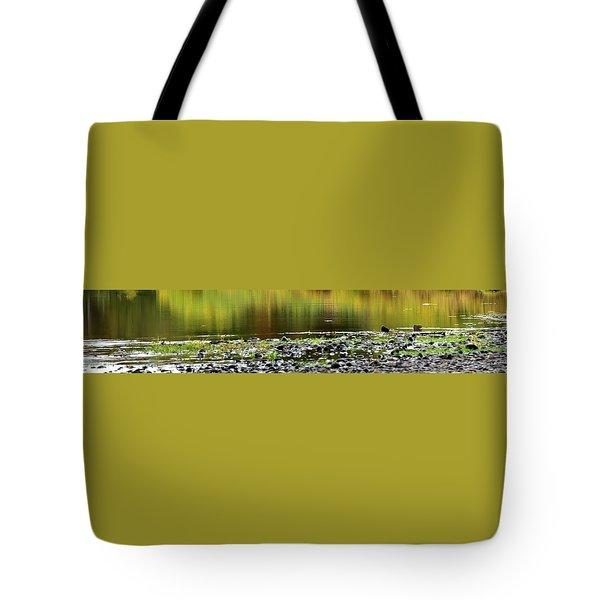 Tote Bag featuring the photograph Quiet Illinois River Autumn Reflections by Jerry Sodorff
