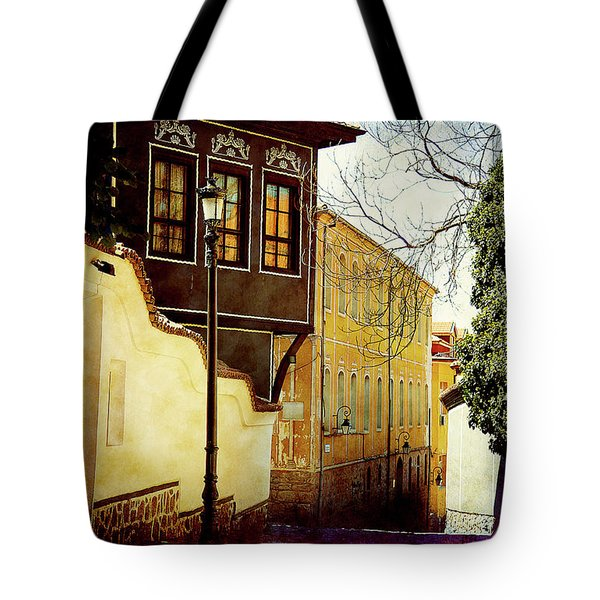 Tote Bag featuring the photograph Quiet Street by Milena Ilieva