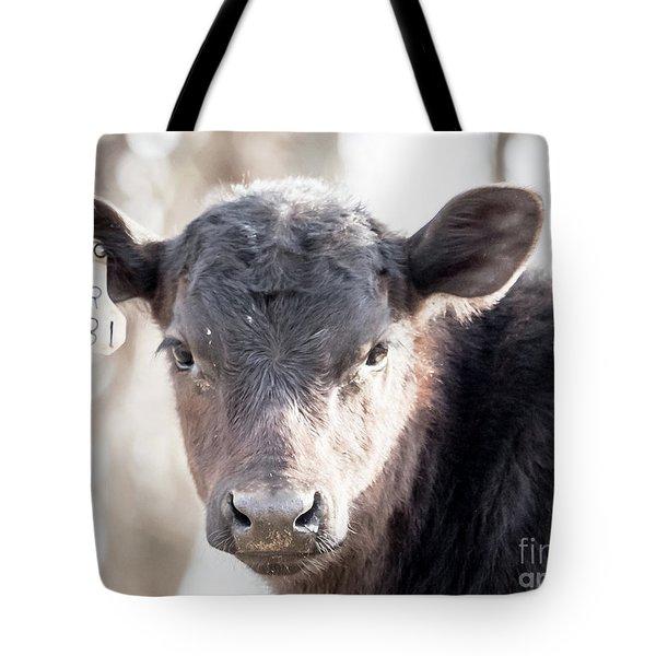 R181 Cow Tote Bag