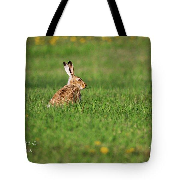 Rabbit Chews Tote Bag
