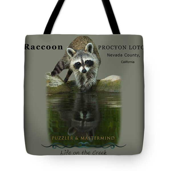 Raccoon Puzzler And Mastermind Tote Bag