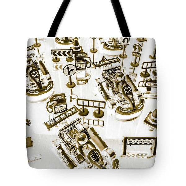 Racing Karts Tote Bag