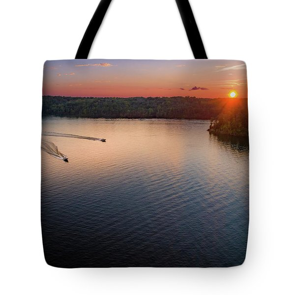 Racing The Sun Tote Bag