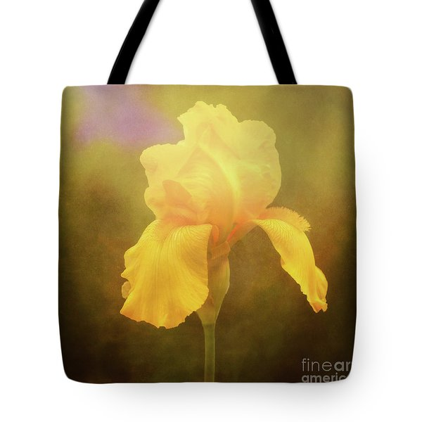 Radiant Yellow Iris With A Vintage Touch Tote Bag
