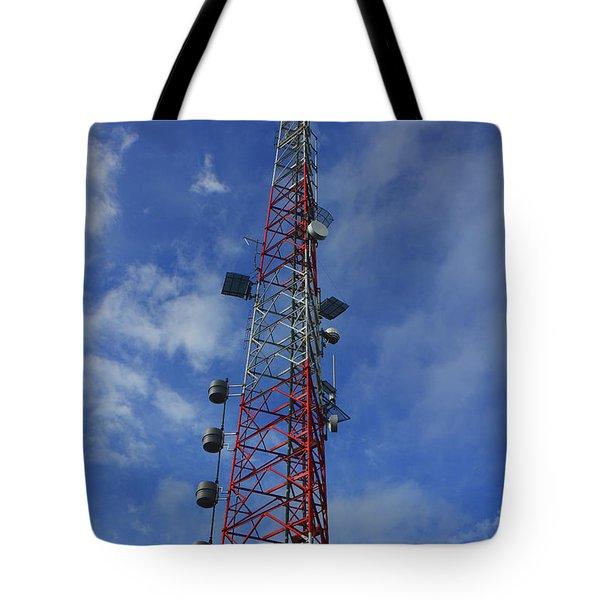 Tote Bag featuring the photograph Radio Tower On Mount Greylock by Raymond Salani III