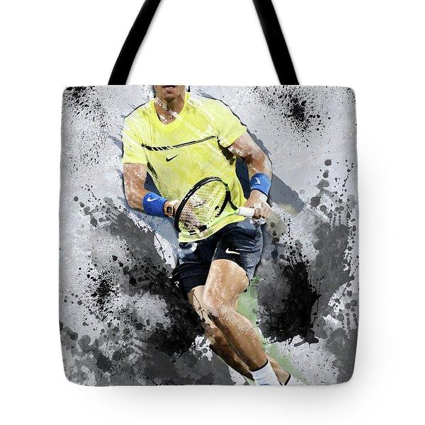Rafael Nadal Tote Bag