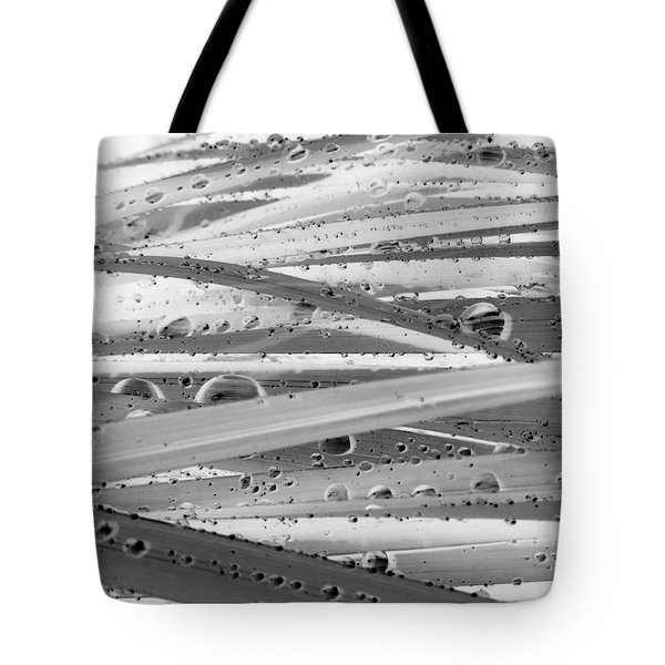 Rain On Siberian Iris Tote Bag