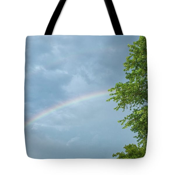 Rainbow And A Tree Tote Bag