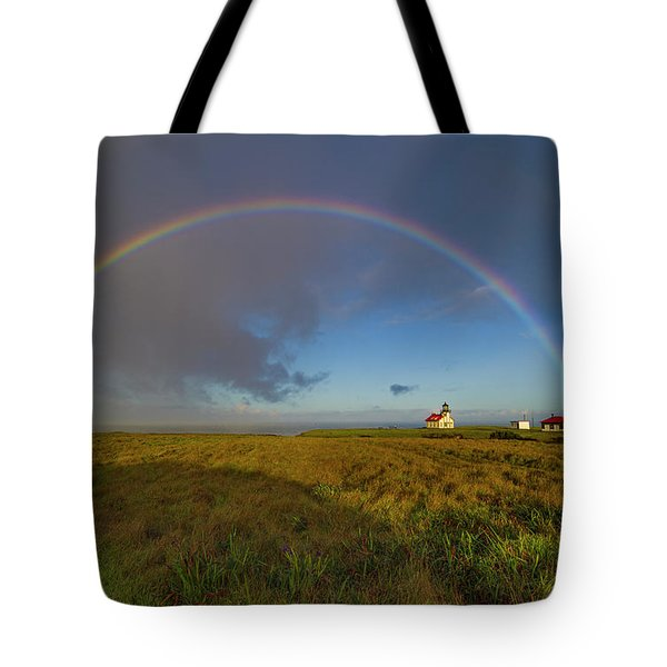 Rainbow At Point Cabrillo Tote Bag