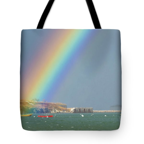 Rainbow At Spring Point Ledge Tote Bag