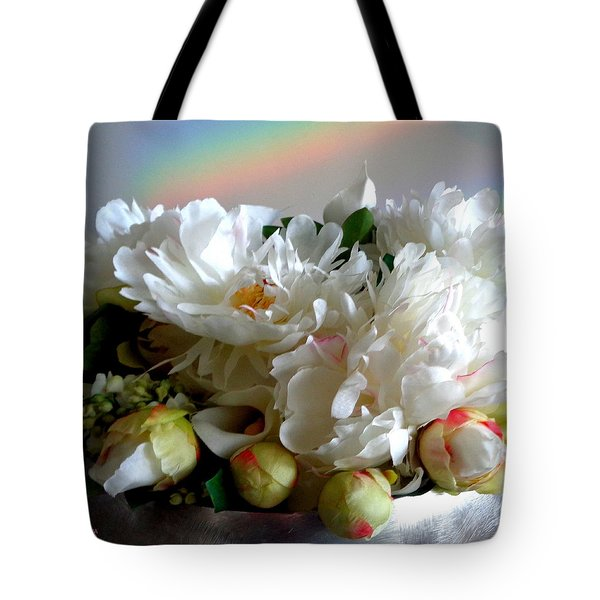 Rainbow Buds N' Blooms Three Tote Bag
