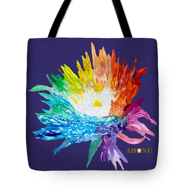 Rainbow Chrysanthemum Tote Bag