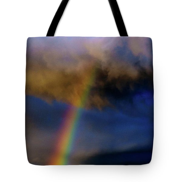Rainbow During Sunset Tote Bag