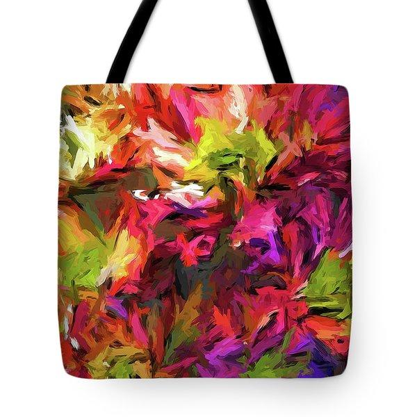 Rainbow Flower Rhapsody In Pink And Purple Tote Bag