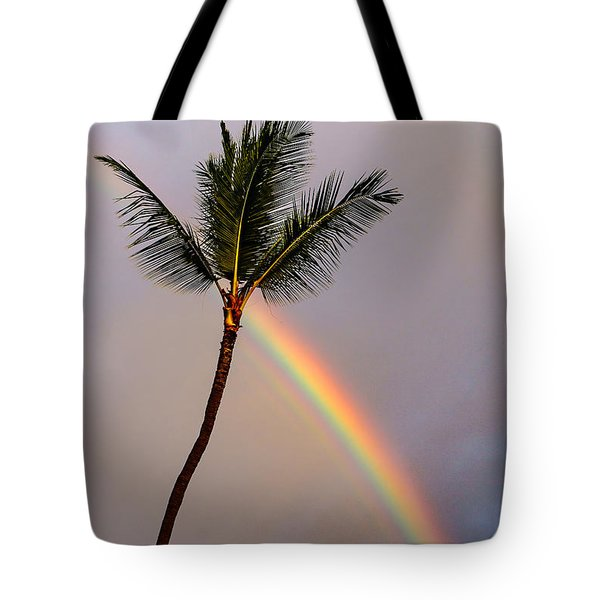 Rainbow Just Before Sunset Tote Bag