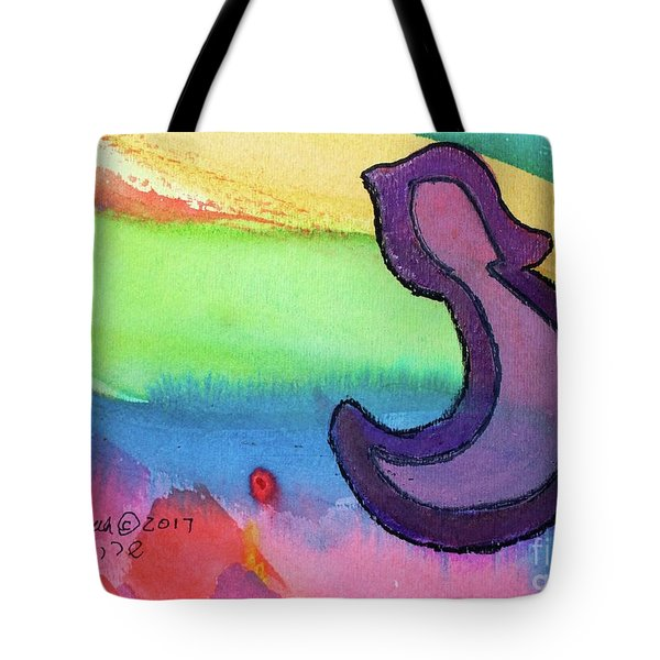 Tote Bag featuring the painting Rainbow Nun N8 by Hebrewletters Sl