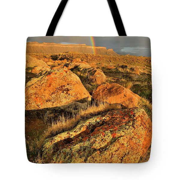 Rainbow Over The Book Cliffs Tote Bag